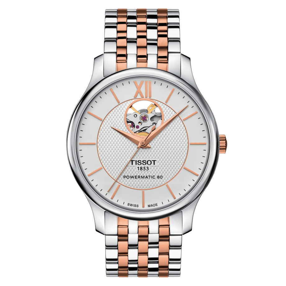 TISSOT TRADITION POWERMATIC 80 OPEN HEART T0639072203801