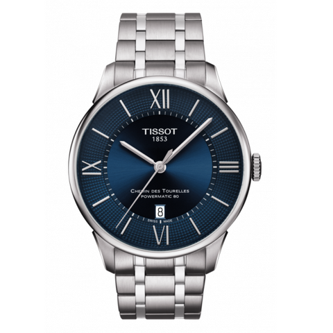 TISSOT CHEMIN DES TOURELLES POWERMATIC 80 BLUE DIAL