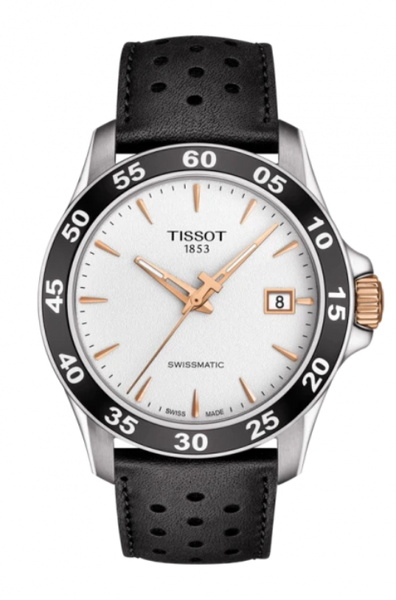 TISSOT V8 SWISSMATIC IN BLACK STRAP T1064072603100