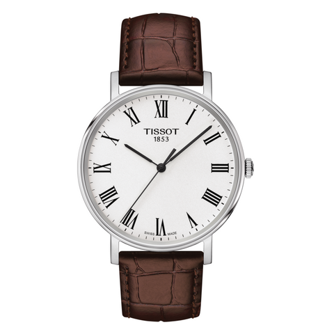 TISSOT EVERYTIME MEDIUM BROWN LEATHER T1094101603300