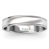 BRUSHED AND POLISHED WEDDING RING IN PLATINUM (3.5mm)
