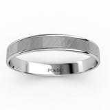 KIKO JAPAN BRUSHED AND POLISHED WEDDING RING IN PLATINUM (3.5mm)