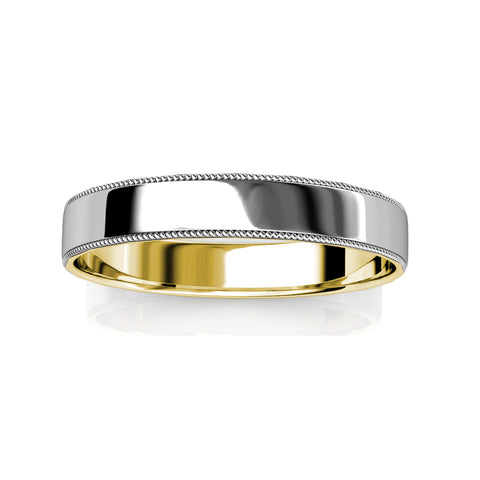 KIKO JAPAN TWO-TONE WEDDING BAND IN PLATINUM/18KT (3.0mm)