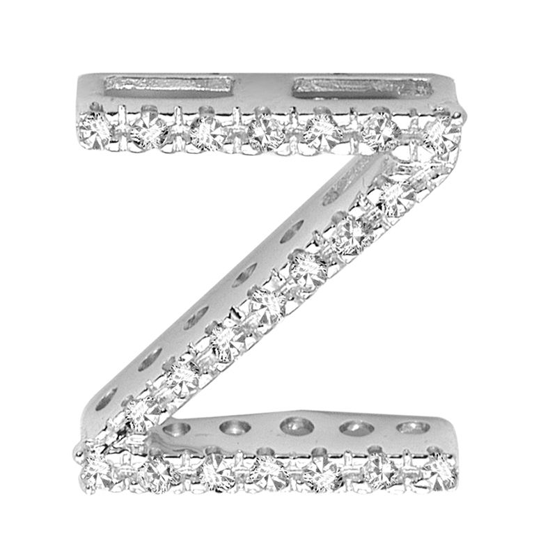 "DIAMOND BLOCK ""Z"" INITIAL IN 14KT"