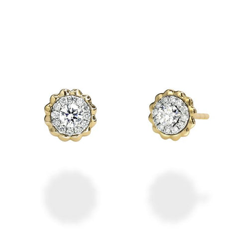 LMD TWIST PRISM 18K DIAMOND EARRINGS