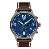 TISSOT CHRONO XL BLUE DIAL AND BROWN STRAP T1166173604700