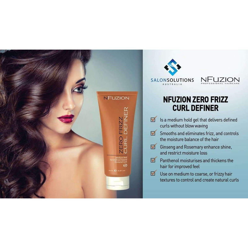 NFuzion Professional Zero Frizz Curl Definer 200ml,Salon Supplies To Your Door