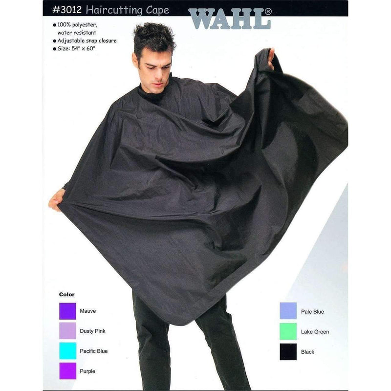 Wahl Polyester Cutting Cape WP3012 Black,Salon Supplies To Your Door