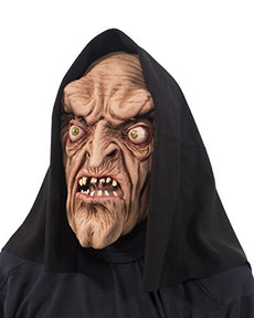 Zagone Studios Original Warlock Witch Monster Mask with Attached Hood