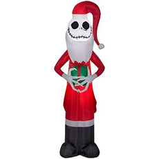 Christmas Disney Inflatable 5.5 Santa Jack Skellington The Nightmare Before Christmas Airblown Decoration