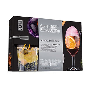 Molecule-R – Gin & Tonic R-Evolution Molecular Mixology Kit + Free Culinary Syringe – Tools & Cocktails Recipes