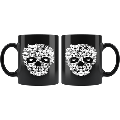 Pitbull skull coffee mug