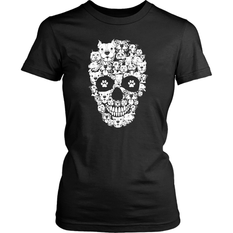Womens Pitbull skull t shirt.