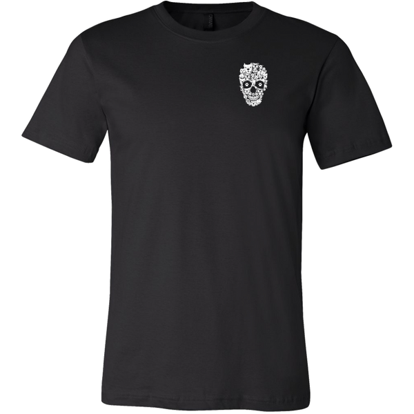 Mens Skull pitbull  T shirt
