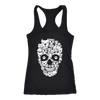 Womens Next Level Raceback Tank Skull Pitty Design