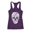 Copy of Womens Next Level Raceback Tank Skull Pitty Design 1