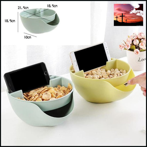 Creative Nut Seeds Storage Bowl Case with Cell Home & Garden blue bowls cell phone holder cerial bowls green