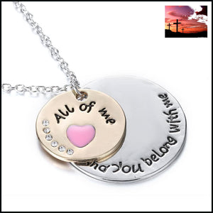 Engraved Love Necklace necklace