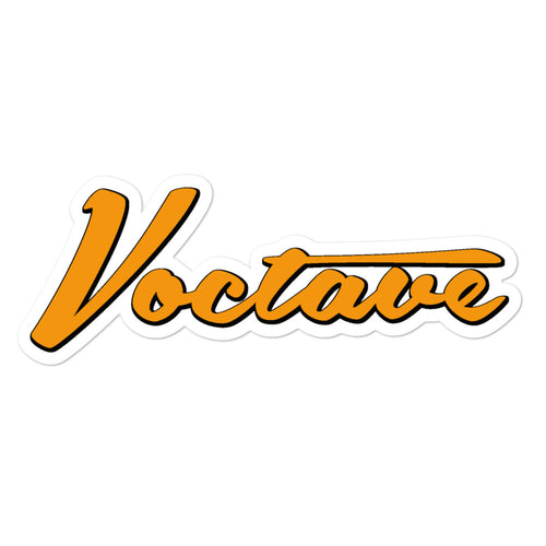 Bubble-free orange VOCTAVE vinyl sticker