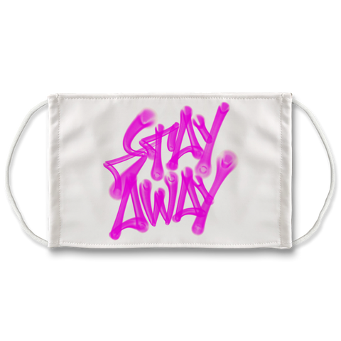 """Stay Away"" Face Mask - Proper Gnar"