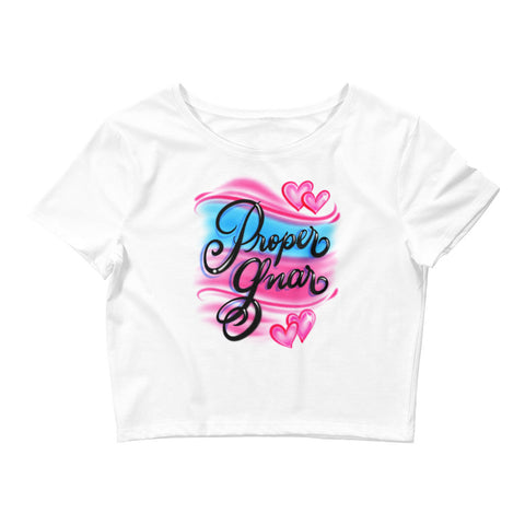 Airbrushed Crop Tee - Proper Gnar