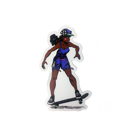 Gnarly Girl Rae Sticker - Proper Gnar