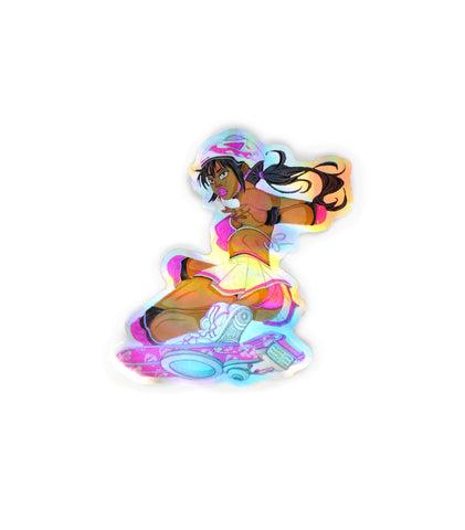 Future Skater Holographic Sticker - Proper Gnar