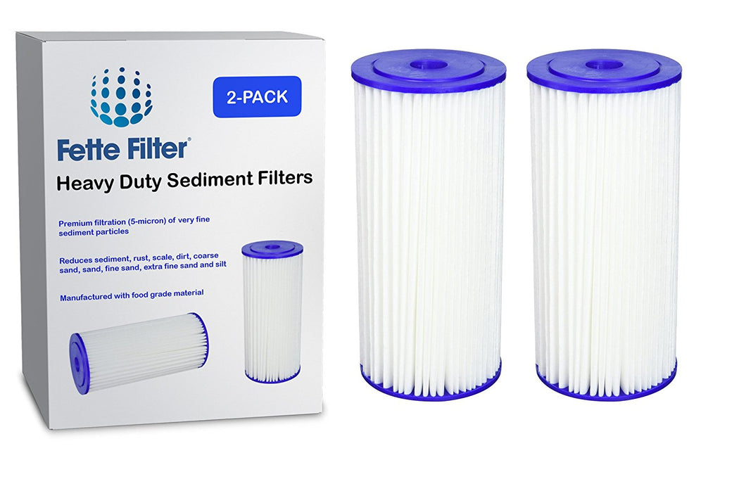 2-Pack - Culligan R50-BBSA Heavy Duty Compatible Sediment Filter. Also replaces GE FXHSC, Pentek R50-BB and DuPont WFHDC3001. Whole House Filters