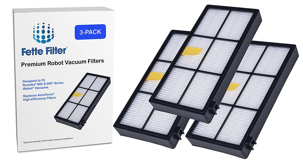 3-Pack - Roomba 800 & 900 Series AeroForce Compatible Filters - iRobot Roomba Compatible Filters