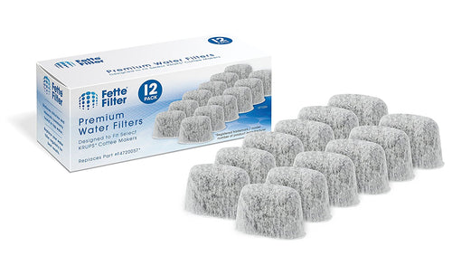 12-Pack - KRUPS F47200 Duo Filters Water Filtration System for KRUPS Coffee Makers Compatible with FMF / FME / 629 /619 /180 / 176 / 466 and 467