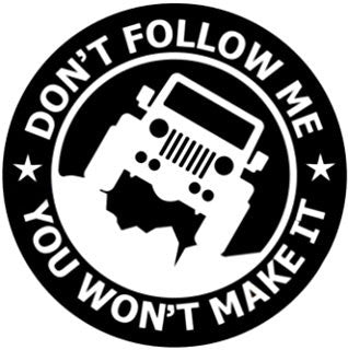 Don't Follow Me decal