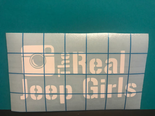 Real Jeep Girls decal