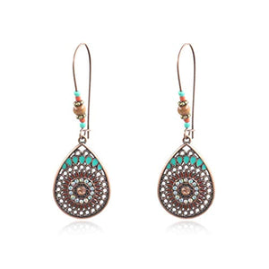 Hollowed Out Bohemian Drop Earrings - The Urban Doll