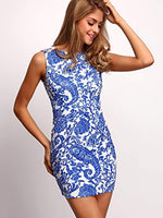 Sleeveless Paisley Print Dress with Pockets (3 Colors) - The Urban Doll