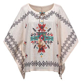 Aztec Feather Tassel Poncho Blouse - The Urban Doll