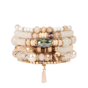 Sparkly Crystal and Natural Stone Statement Bracelet