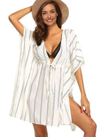 Striped Side Split Beach Cover Up (3 Colors) - The Urban Doll