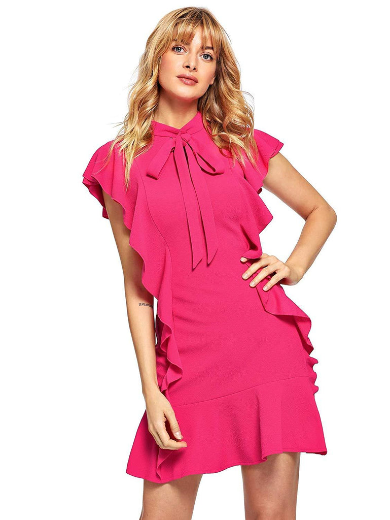 4bec20cff96 Grace Short Sleeve Ruffle Cocktail Dress (7 Colors) - The Urban Doll