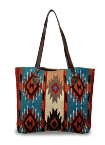 Handwoven Southwest Woolen Tote - The Urban Doll