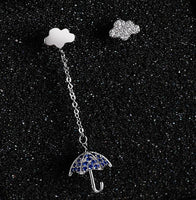Showers Umbrella and Clouds Crystal Earrings - The Urban Doll