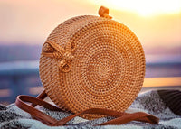 Bali Round Handwoven Rattan Crossbody Purse (3 Designs) - The Urban Doll