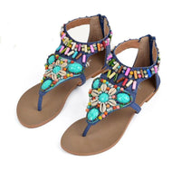 Beaded Bohemian Gladiator Sandals - The Urban Doll