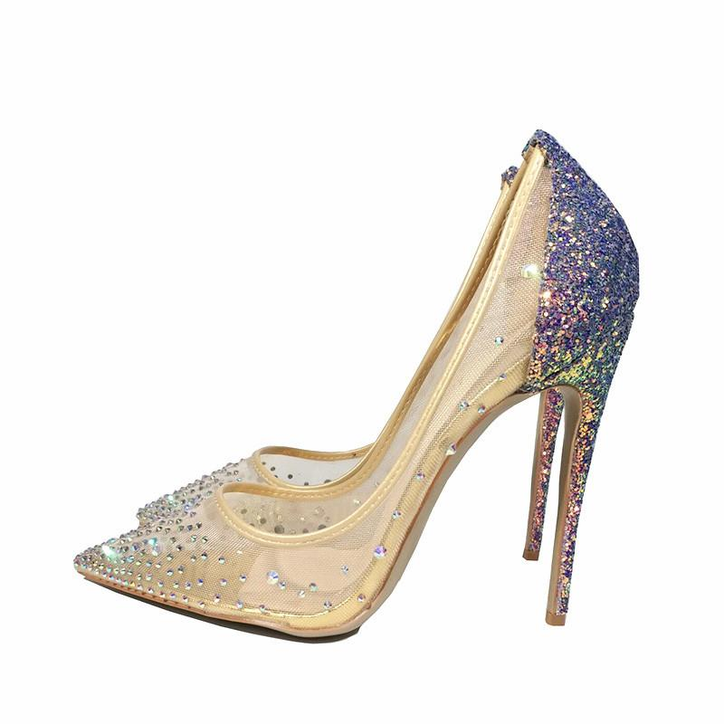 Bling Bling Glitzy High Heels - The Urban Doll