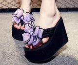 Bowtie Wedge Platform Sandals - The Urban Doll