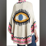 Evil Eye Knit Shawl - The Urban Doll