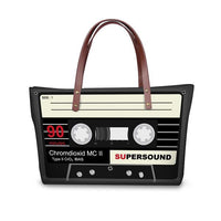 Large Vintage Cassette Tape Tote - The Urban Doll
