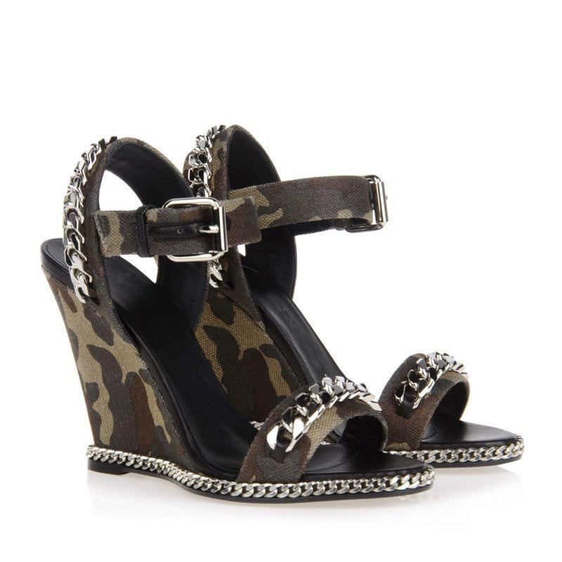 Chains Camouflage Wedge Sandals - The Urban Doll