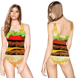 Cheeseburger One Piece Swimsuit - The Urban Doll