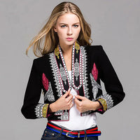 Vintage Embroidered Blazer - The Urban Doll