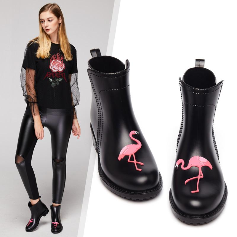 Flamingo Waterproof Ankle Boots - The Urban Doll